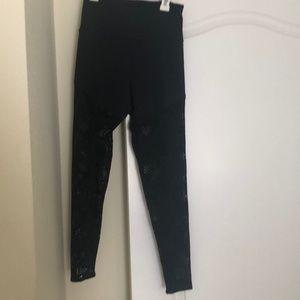 Onzie full length laser cut out leggings